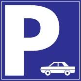 Piktogram parking auto