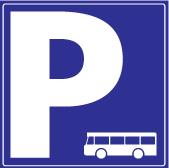 Piktogram parking bus